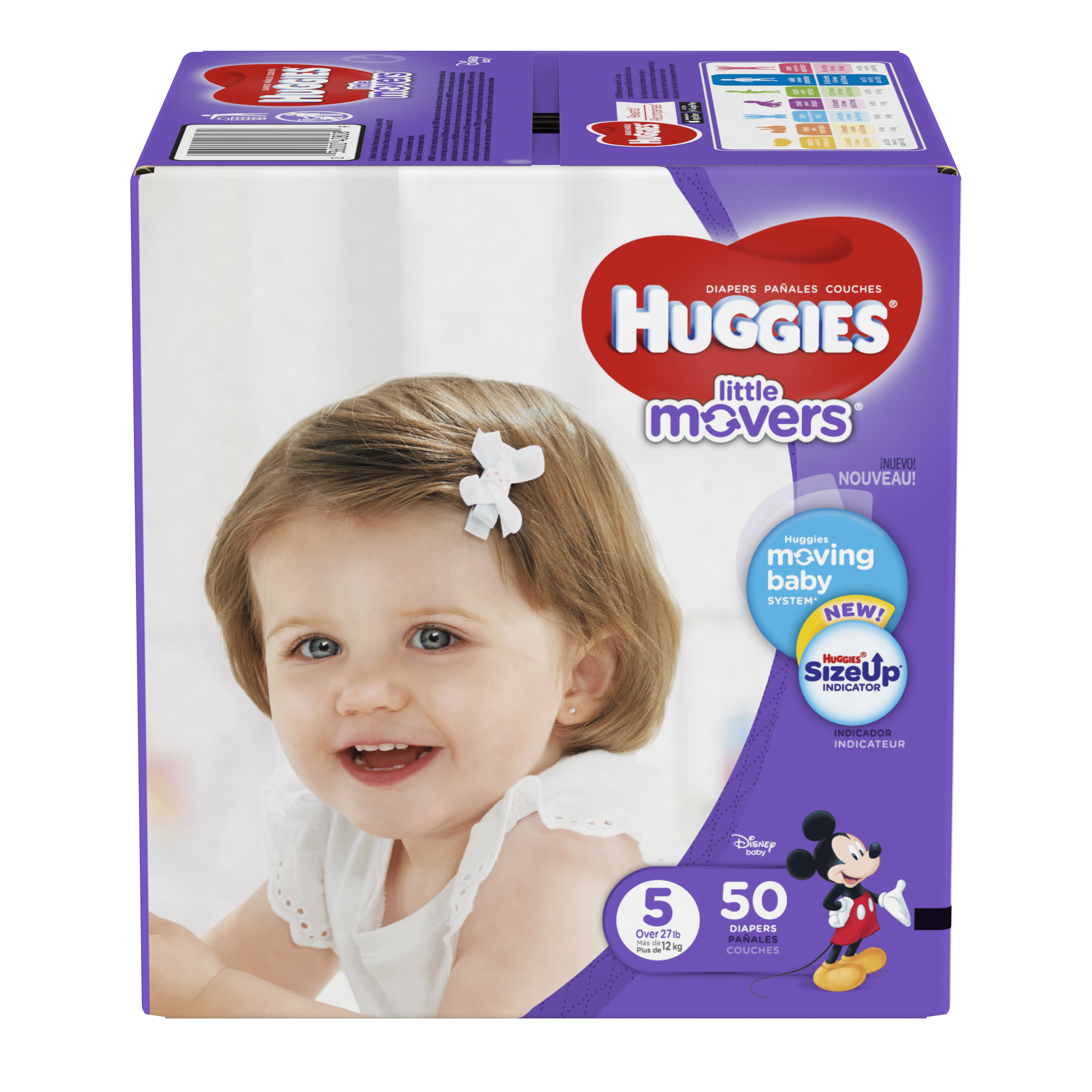 HUGGIES Little Movers Diapers, Size 5, 50 Diapers