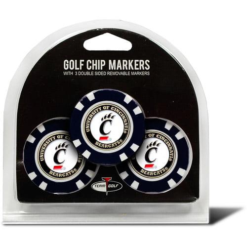 Team Golf NCAA Cincinnati 3 Pack Golf Chip Ball Markers