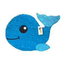 APINATA4U Baby Whale Pinata, Blue, 24in x 18in