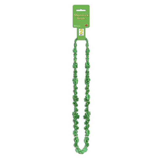 Beistle 30591 Shamrock Beads - Pack of 12