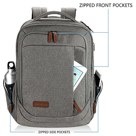 KROSER Laptop Backpack 17.3 Inch Computer Backpack School Backpack Casual Daypack Water-Repellent Laptop Bag with USB - image 4 of 5