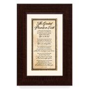 The James Lawrence Company 'The Greatest Parents on Earth' Framed Textual Art