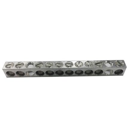 Morris 91133 Morris Products 91133 Ground/Neutral Bar, Aluminum, 6 Circuits, #14 - #4 Wire -