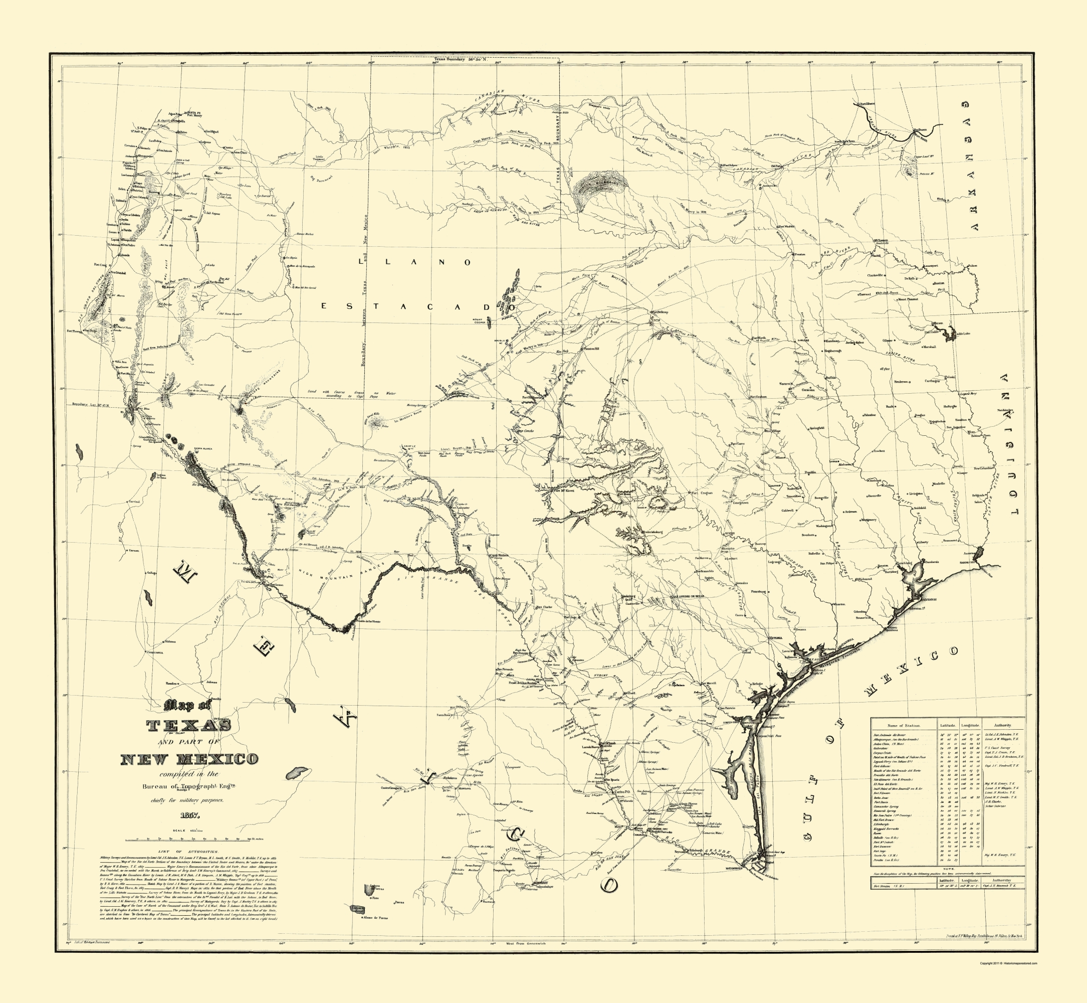 Old State Map Texas Eastern New Mexico Dunnovant 1857 23 X