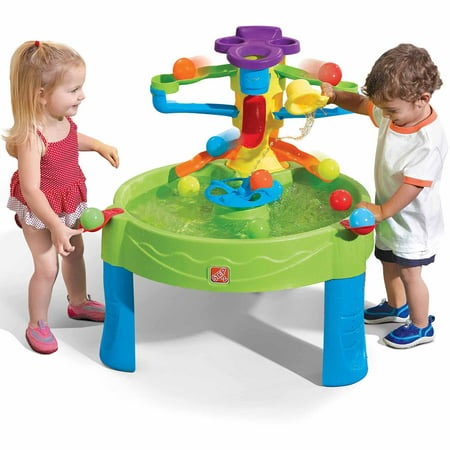 Step2 Busy Ball Water Table with a Scoop and Ten Balls Included (Wooden Play Table)