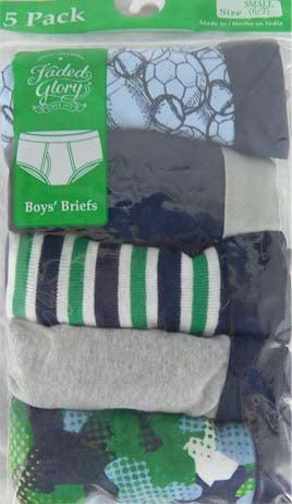 Boys Briefs, 5 Pack