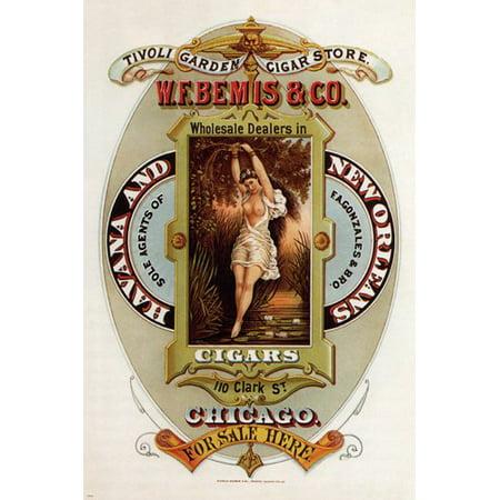 Cigars Vintage Ad Poster United States 1872 24X36 Memorabilia (Macanudo Vintage Cigars)