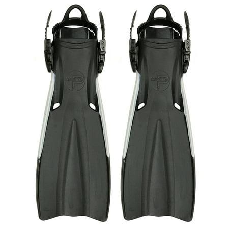 - Scuba Choice Palantic Open Heel Rubber Dive Fins with Bag, Black(S)