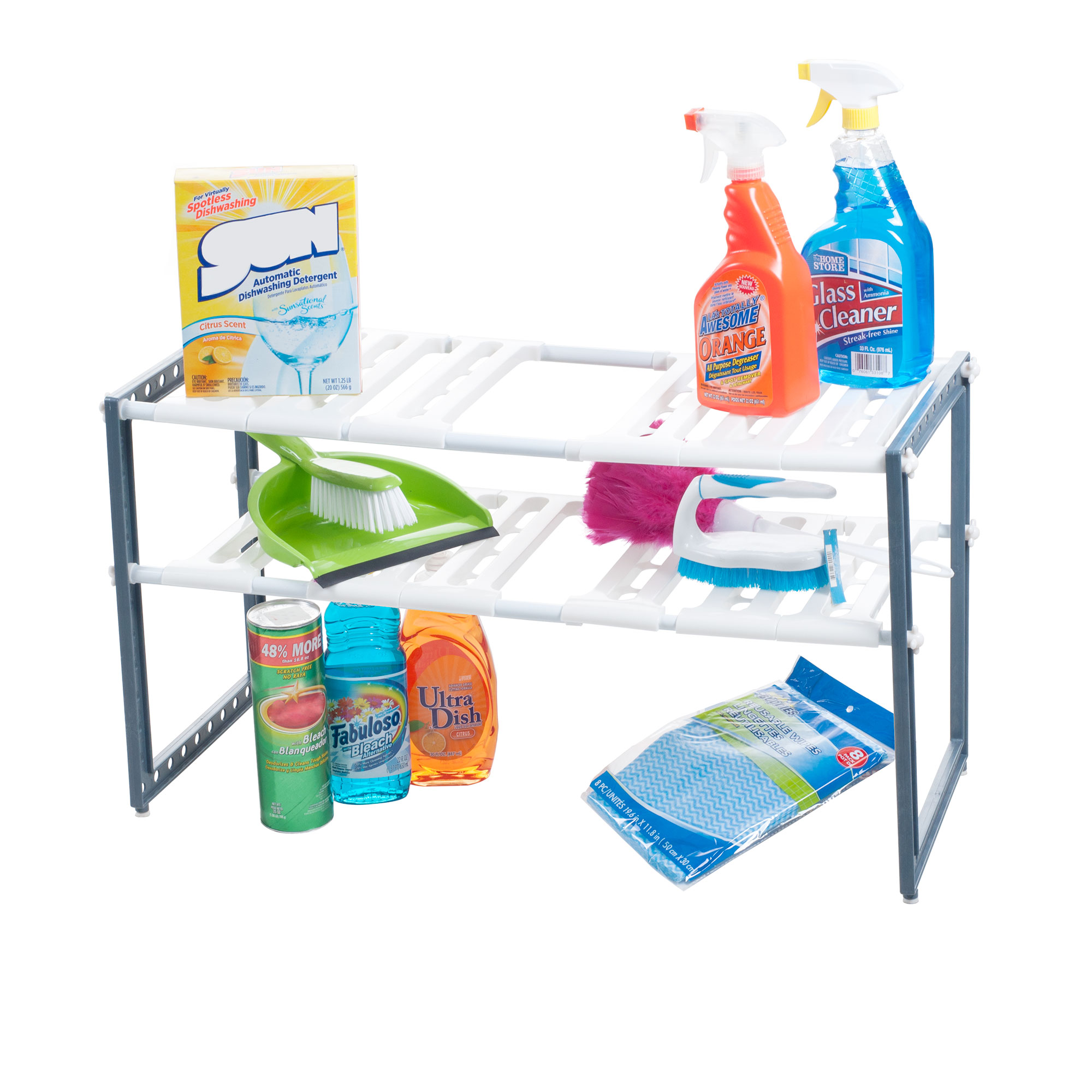 Stalwart 82-50702 Adjustable Under Sink Shelf Organizer Unit