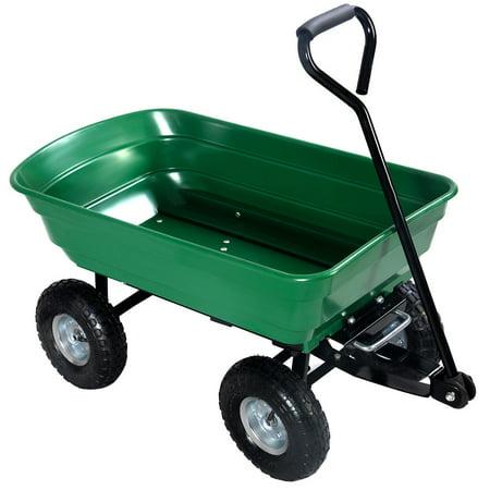 - Costway 650LB Garden Dump Cart Dumper Wagon Carrier Wheel Barrow Air Tires Heavy Duty