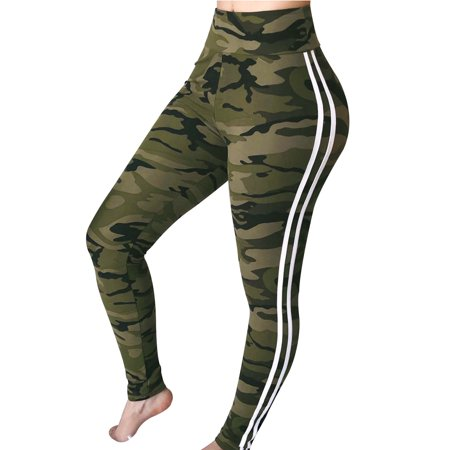 Fancyleo Women Fashion High Waisted Pencil Pants Camo Casual Long - Unionbay Camo