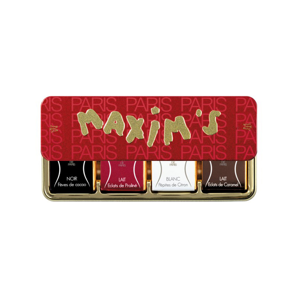 Maxim's Paris - Assorted Chocolate Squares, 8pc Red & Gold Gift Tin
