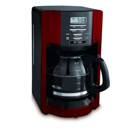 Mr. Coffee 12 Cup Red Coffee Maker (Cobalt Coffee Pot)