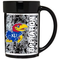 Kansas Jayhawks Operation Hat Trick 15oz. Ceramic Mug - Black - No Size