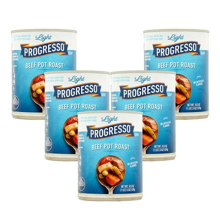- (5 Pack) Progresso Light Beef Pot Roast Soup, 18.5 oz Can