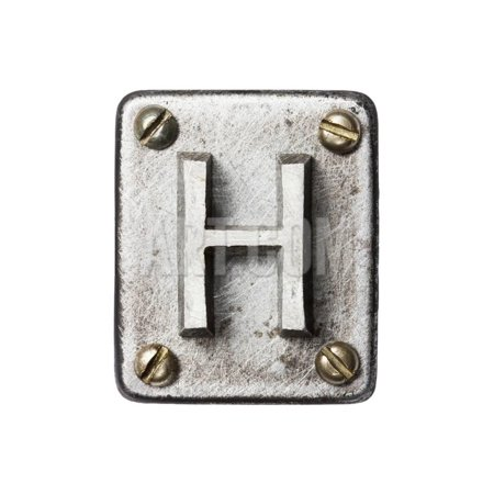 Old Metal Alphabet Letter H Print Wall Art By donatas1205