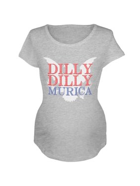 98919a122 Product Image 4th of July Dilly Dilly MURICA Maternity Soft T Shirt