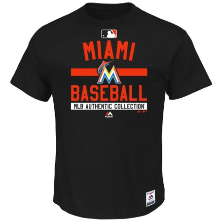 Miami Marlins Majestic Authentic Collection Team Property T-Shirt - Black - XL ()