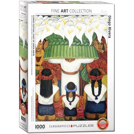 Flower Festival by Diego Rivera (1000 Piece) Puzzle, 1000-Piece Puzzle By