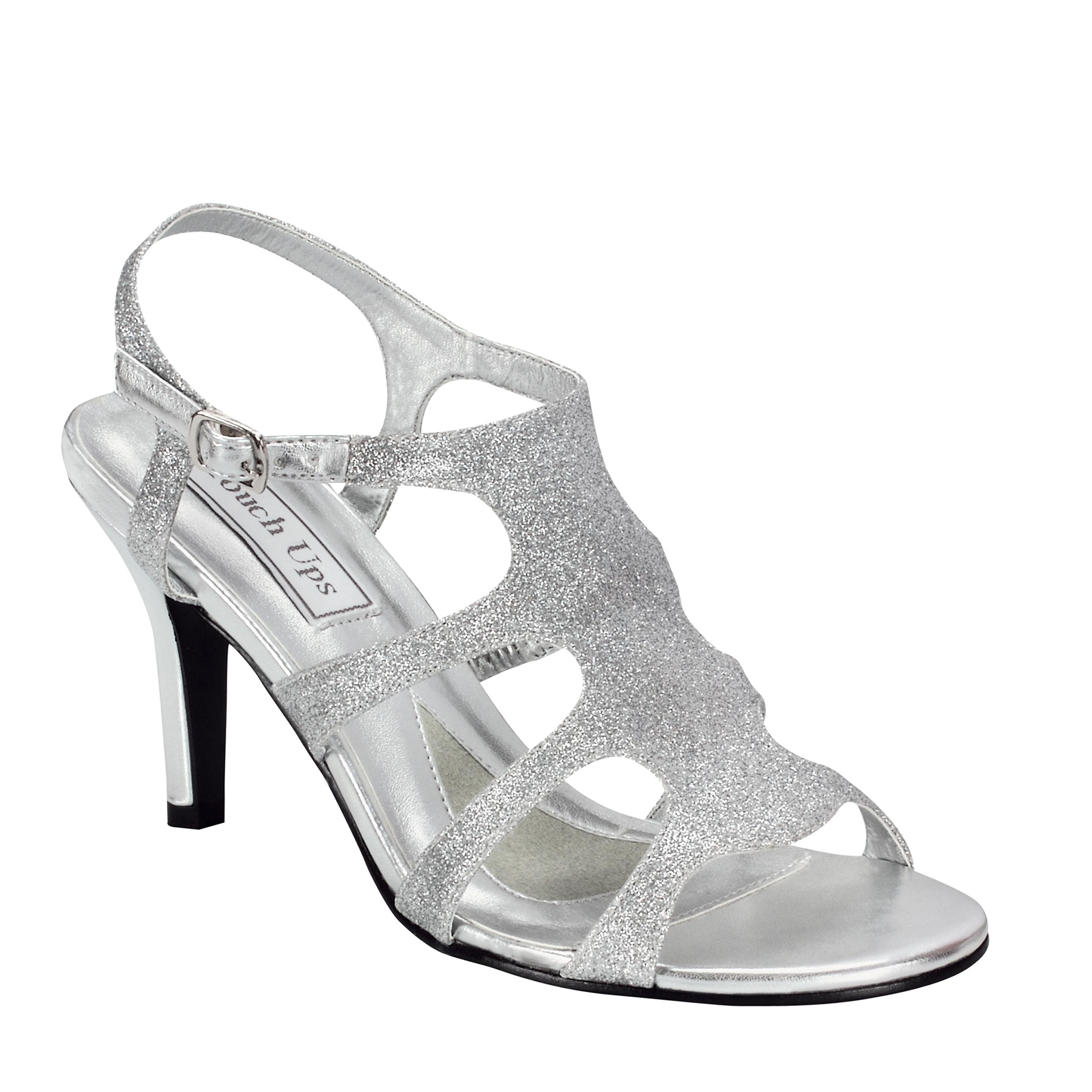 Touch Ups Womens Aphrodite Sandal,Silver,8.5 M US