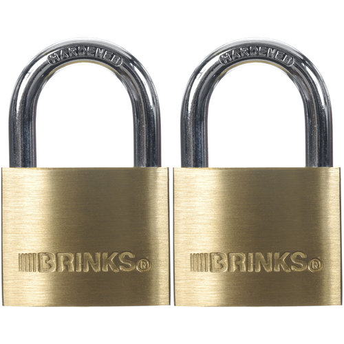 Brink's 40mm Solid Brass Padlock, 2-Pack