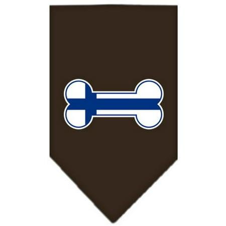 Image of Bone Flag Finland Screen Print Bandana Cocoa Small