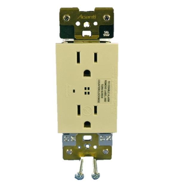 Leviton ACSSR-DFT Acenti surge protection duplex receptacle,15A-125VAC, NEMA 5-15R - Driftwood