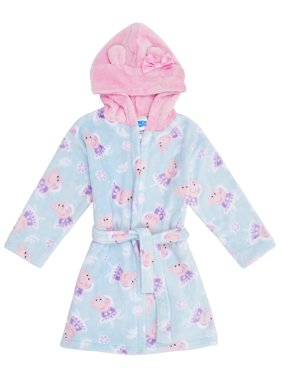 Peppa Pig Toddler Girl Hooded Robe Pajamas