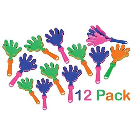 Plastic Hand Clappers - 12 Pack Assorted Colors – Party Favors - Toy For Kids, Easter Hunt – Noise Makers – By Katco - Easter Party