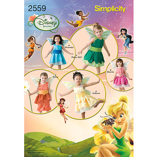 Simplicity Pattern Toddler Fairy Costumes, (1/2, 1, 2, 3, 4)