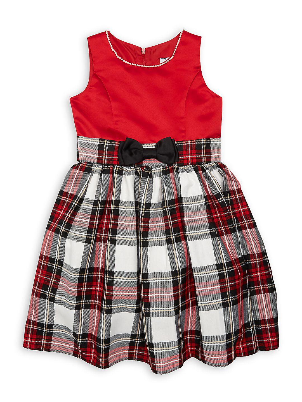 Girl's Lexi Sleeveless Plaid Dress