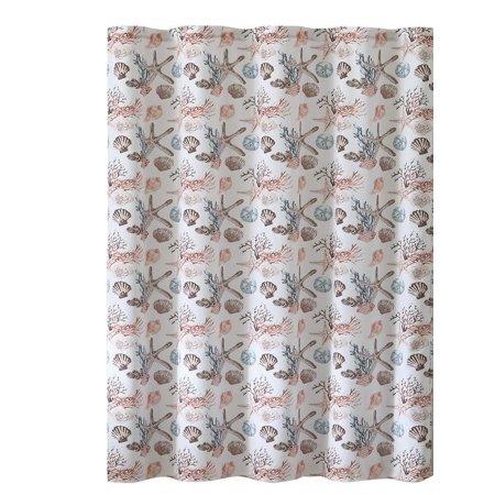 Evolive 13 Piece Faux Linen Textured Microfiber Single Shower Curtain With Plastic Hooks