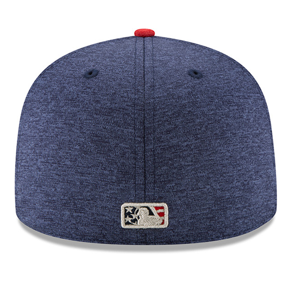 buy popular 8c585 2b9f2 New York Mets New Era 2017 Stars   Stripes 59FIFTY Fitted Hat - Heathered  Navy Heathered Red - 7 1 8 - Walmart.com