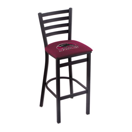 "L004 - 25"" Black Wrinkle Southern Illinois Stationary Counter Stool with Ladder Style Back by the Holland Bar Stool Co."
