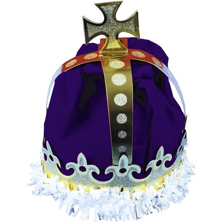 Blue Paper Kings Crown Adult Halloween Accessory
