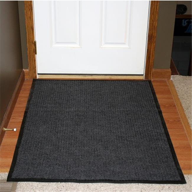 Durable Corporation 613S0036CH 3 ft. W x 6 ft. L Spectra Rib Entrance Mat in Charcoal