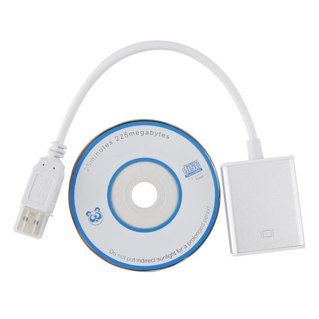 (1080P Super Speed USB 3.0 To HDMI Adapter Audio Video Converter Cable For Windows 7/8/8.1/XP/Vista PC, White)