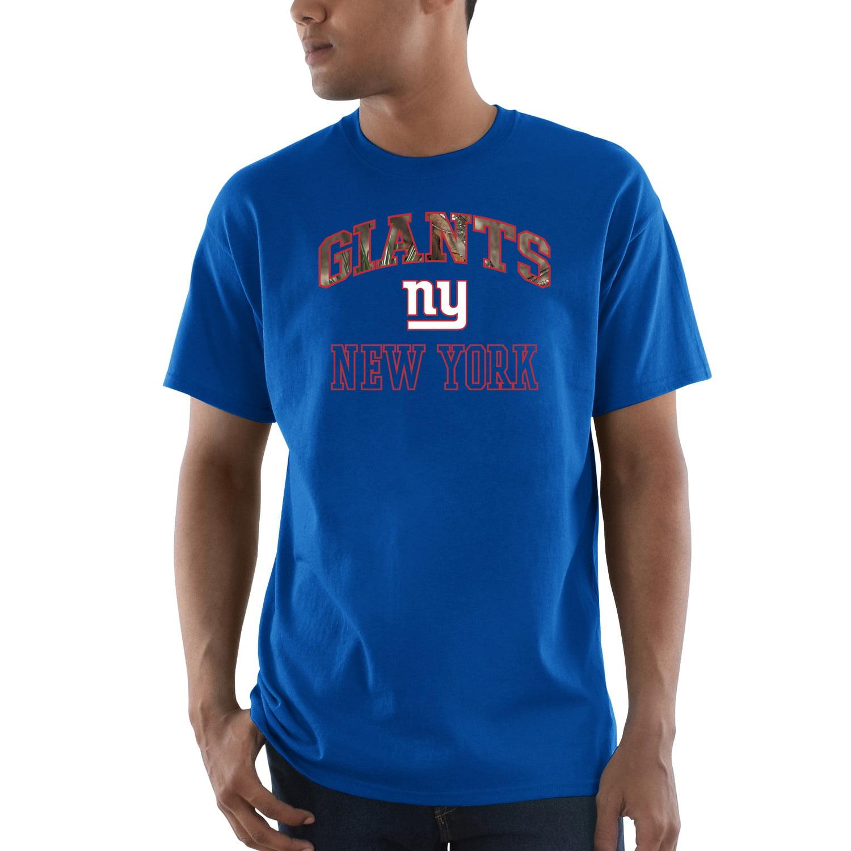 New York Giants Majestic Power Play Mossy Oak Camo T-Shirt - Royal