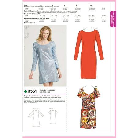 3 Sewing Patterns (Kwik Sew Pattern Dresses, (XS, S, M, L, XL))