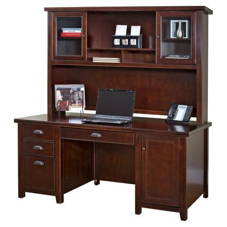 Martin Furniture Tribeca Loft Double Pedestal Desk With Optional