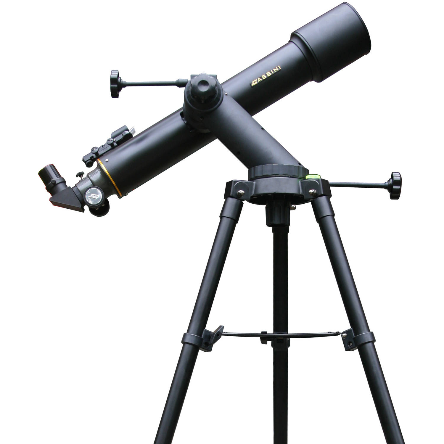 Cassini 600mm x 90mm Tracker Series Astronomical Refractor Telescope with Tripod - Black, C-60090TR