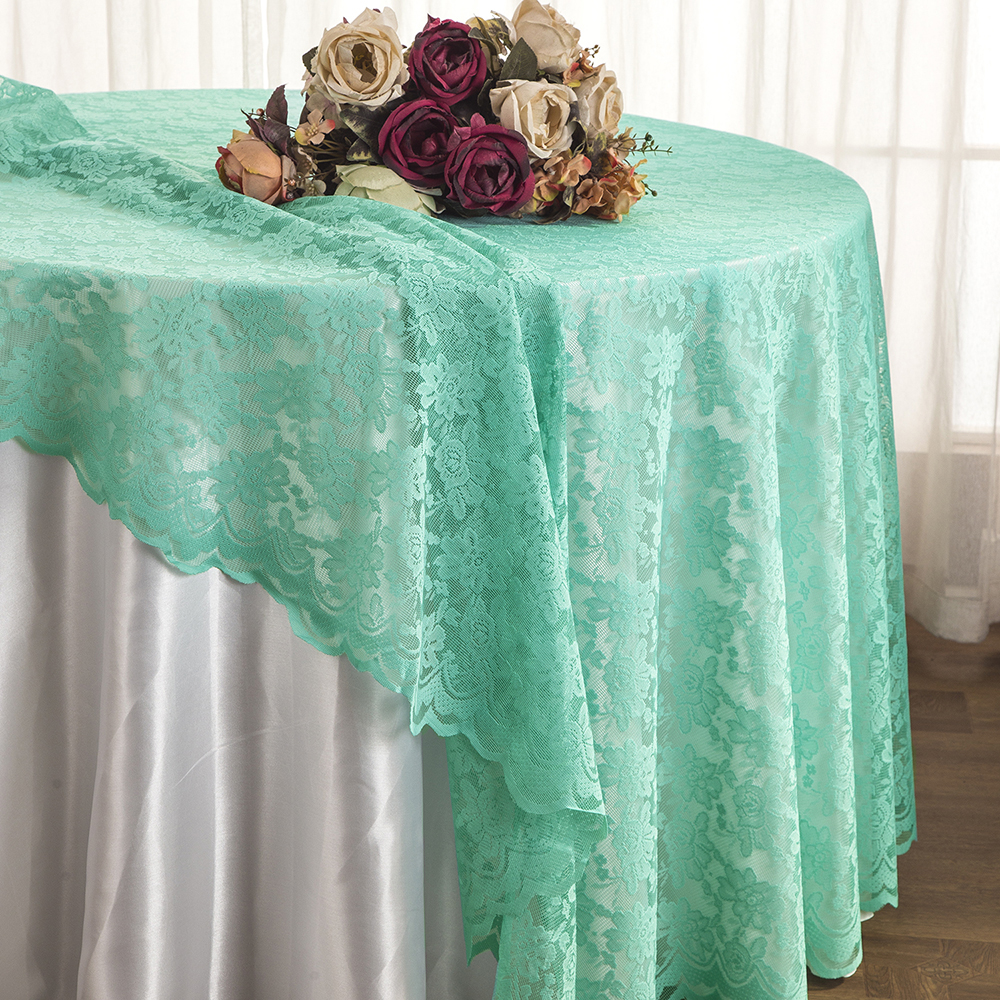 ... Lace Tablecloths Round, Lace Table Overlay Linens, Lace Table Toppers  For Wedding Decorations, Events Banquet Party Supplies   Aqua Blue    Walmart.com