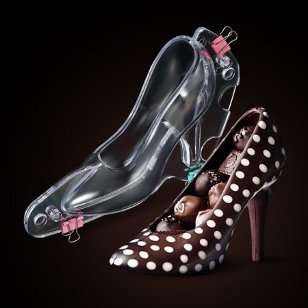 3D High Heel Shoe DIY Fondant Cake Mold Sugar Chocolate Candy Template Molds Cake Decoration Baking Tool 3 D Candy Molds
