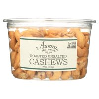 Aurora Natural Products - Roasted Unsalted Cashews - Case of 12 - 9 oz.