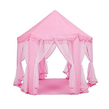 Steegic Princess Castle Extra Large Play Tent Children Playhouse Great for Indoor and Outdoor ()