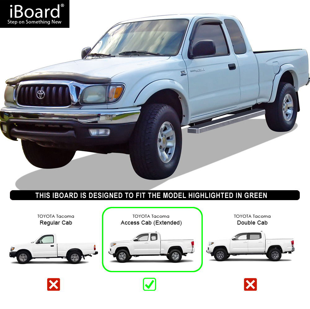 Iboard Running Board For Toyota Tacoma Extended Cab 2 Full 2 Suicide Doors