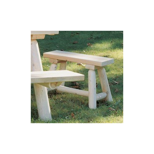 Rustic Natural Cedar 030019A Straight Bench (Set of 2)
