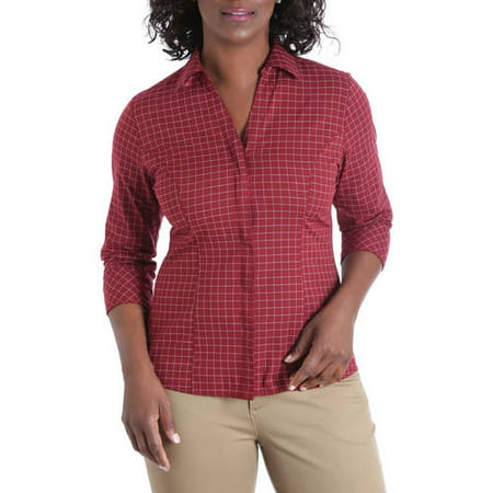 Women's 3/4 Sleeve Classic Career Shirt - Express Suits Womens