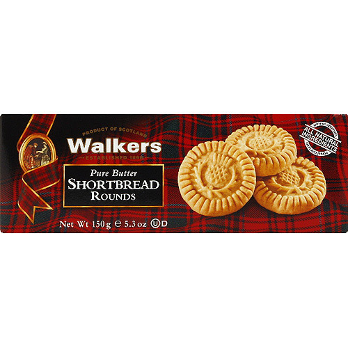 Walkers Pure Butter Shortbread Rounds, 5.3 oz, (Pack of 12)
