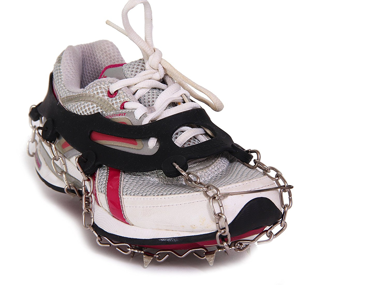 Wealers Ice Shoe Anti-slip Ice Cleats Shoe Boot Tread Grips Traction Crampon Chain Spike Sharp Snow Walker by